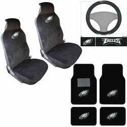 Nfl Philadelphia Eagles Car Truck Seat Covers Steering Wheel Cover And Floor Mats