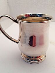 Sterling Silver Tankard Style Baby Cup By Lunt Silversmiths Usa New