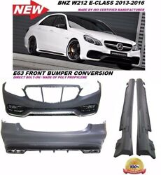14-16 W212 E Class E63 Amg Front Rear Bumper Cover Side Skirts Body Kit Grill