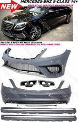 W222 S63 S65 Amg Style S Class Front Rear Bumper Diffuser Side Skirt Tips S550
