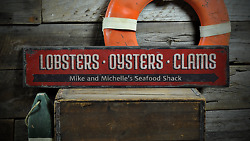Seafood, Lobsters, Custom Chef Gift - Rustic Distressed Wood Sign