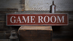 Game Room, Game Room Decor, Game Room - Rustic Distressed Wood Sign