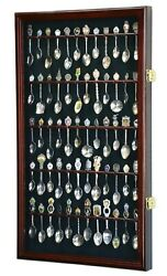 60 Spoon Display Case Cabinet Wall Mount Rack Holder 98 Uv Protection Lockable