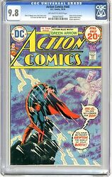 Action Comics 440 Cgc 9.8 Nmmt Off Wht To Wht Pgs Green Arrow And Black Canary