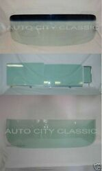 55 56 Chev 2 Door Sedan Glass Windshield Assembled Vent Door Quarter Rear Back