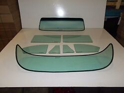 1953 1954 Chev 4 Door Sedan Glass Windshield Vent Doors Rear Back Green Tint