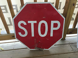 Stop Sign Slow Sign Large Metal Red And Orange Street Road Sign 24quot; x 24quot;