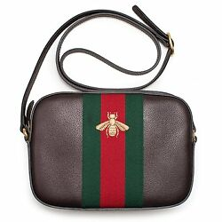 Gucci Brown Bee Crossbody Messenger Leather Winter 2016 New Italy Bag Red New