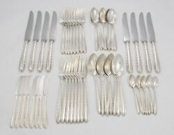 Silver Flutes By Towle Sterling Silver Flatware Set For 8 - 56pc -no Monogram