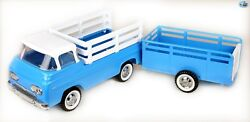 Awesome Vintage Restored 1969 Nylint Toys Pressed Steel Econoline Stake Truck