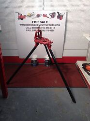 Nye Tool Co. Tripod Stands Pipe Threading Machine Professional Jack Stand Used