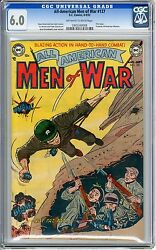 All- American Men Of War 127 Cgc 6.0 Off-white To Wht Pgs 2nd Highest Graded