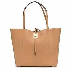 Michael Kors Collection Miranda Peanut Tan Large East West Tote Snake Leather