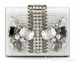 Mcm Romantic Chandelier Clutch Winter White Leather Bag New Ivory Liza