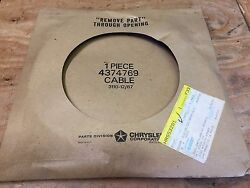 1984 Dodge Rampage Pick Up Truck Nos Mopar Speed Control Cable 4374769