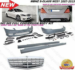 MB 07-13 W221 S-Class S65 S63 Amg Style Front Rear Bumper Body KIt S550 S600 Pdc