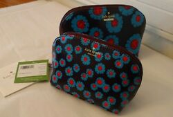 Kate Spade Cameron Street Tangier Floral Abalene Set Cosmetic Cases $68.00