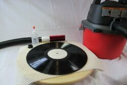 Vacuum Vinyl Record Cleaner Mk1 Cleaning Kit W/ Turntable Fluid Brush Wand