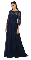Formal Evening Special Occasion Classy Mother Of The Groom Bride Plus Size Dress