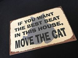 FUNNY SIGNS MAKE GREAT GIFTS Metal cat lover