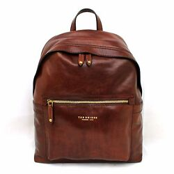 Man Woman Backpack THE BRIDGE brown leather rucksack for laptop new 06408101