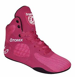 Otomix Stingray Escape Bodybuilding Weightlifting Grappling Shoes Pink/black