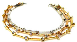 18k White Yellow Rose Gold .45ct Diamond Stackable Tennis Bracelet Designer