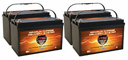 Qty4 Vmax Mr137-120 Agm Group 31 Batteries 48v Electric Trolling Outboard Motors