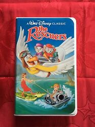 Collectible Disney Vhs 1992 Black Diamond The Rescuers With Rare Lead On Tape