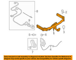 AUDI OEM 09-12 Q5 Trailer Hitch-Rear Bumper-Impact Bar Beam Rebar 8R0800495B