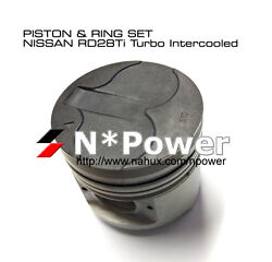 1.00mm Piston And Ring Set 6 For Nissan Rd28 2.8 Turbo Intercooled Patrol Gu 97-99