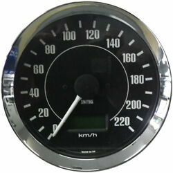 Smiths Classic Black Speedometer Electric Full Sweep 0-240 Km/h 100mm Gauge 12v