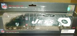 New York Jets Semi Diecast Truck Tractor Trailer Nfl 2011 Transporter 180 Scale