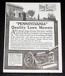 1911 Old Magazine Print Ad, Pennsylvania Quality Lawn Mowers, Are Always Sharp