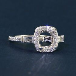 Gabriel And Co Baguette Accented Halo Ring - Contemporary Collection Er9193w44jj