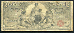 """Fr. 247 1896 2 Two Dollars """"educational"""" Silver Certificate"""