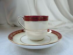 Minton H4539 Black Starr And Frost - 4 Demitasse Cups And Saucers Numbered