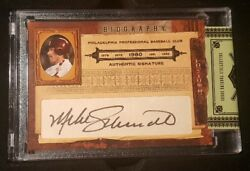 Mike Schmidt 2008 Donruss Playoff Prime Cuts Signed Auto Mint Full Opened Box