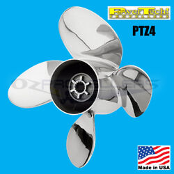 Size 14 1/4 X 14 Mercruiser 4 Blade Stainless Steel Propeller Power Tech Prop