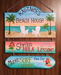 Large Personalized Beach Pool Lagoon Home Oasis Sign Hand Painted Camping $159.00