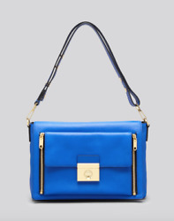 Milly Shoulder Bag Sienna 2 In 1 Leather Convertible Messenger Blue Women 4762