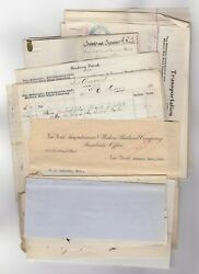 Lot Of 400+ Misc. Documents And Delaware, Lackawanna Western Rr Checks - 1886