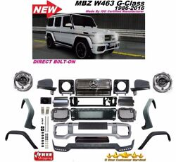 2002-2016 W463 G63 Style Front Bumper Grill Flares Full Conversion G55 G500 G550