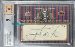 2008 Signs Of History Auto Jimmy Carter 14/49 Autograph 39th President Bgs 9