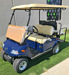 2019 Blue LSV Evolution Golf Cart Car Classic 4 Passenger seat 48v Street Legal