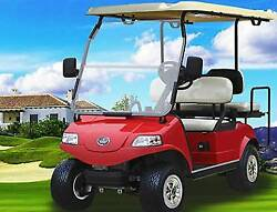 New 2019 Red Evolution EV Golf Cart Car Classic 4 Passenger seat 48v 48volt