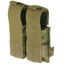 Flyye Army Combat Double 9mm Magazine Ammo Range Pouch Ver. Hp Molle Multicam