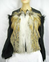 SALE!!! $13000 GUCCI 4 6 38 Fur Leather Winter Coat Jacket Women Lady Gift NWT