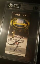 Stephen Curry Signed Warriors Ticket Stub Bas Beckett Auto Most 3and039s 73 Wins