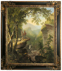 Durand Kindred Spirits 1849 Framed Canvas Print Repro 20x24